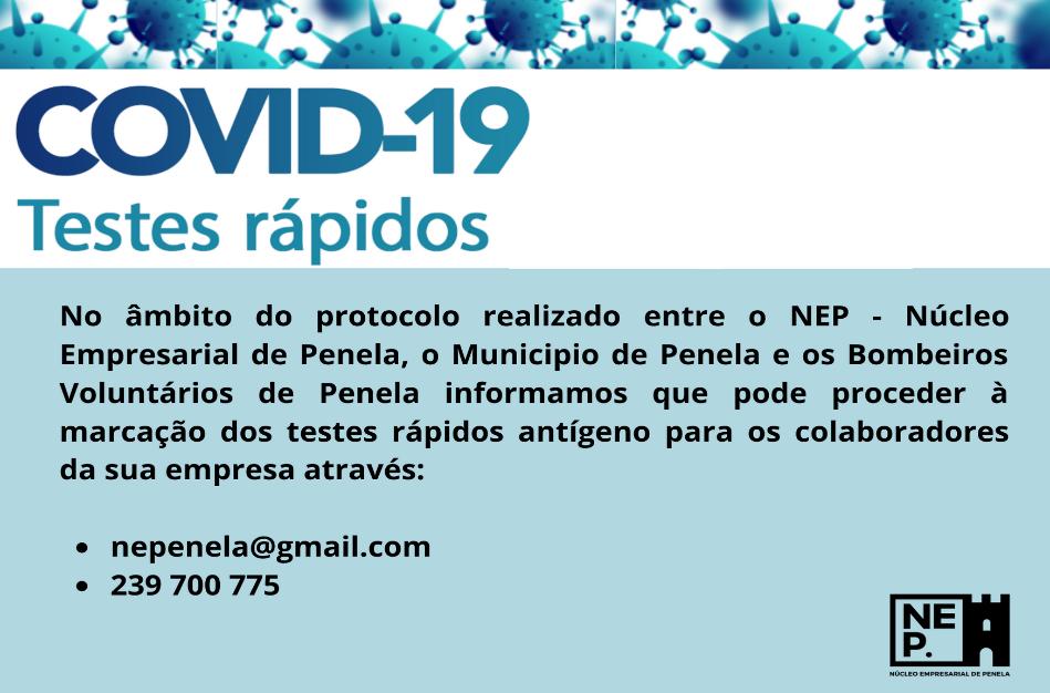 NEP – Núcleo Empresarial de Penela assina protocolo de testagem à COVID-19